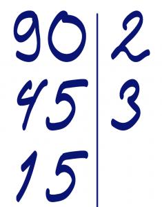 Разложение 90 на простые множители